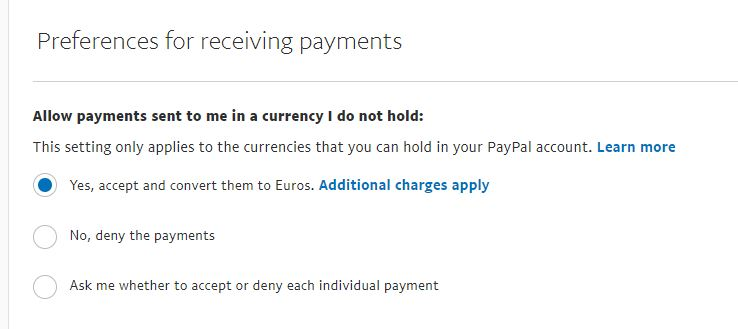 How To Set Up Your Paypal To Accept International Currencies Paypal Interface Webinterpret Help Center Support